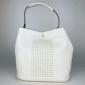 Neiman Marcus | NEW White Gold Bucket Bag Purse